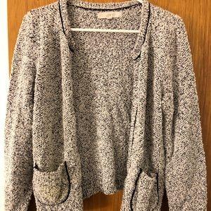Loft Cardigan Sweater Size M Medium Open Front